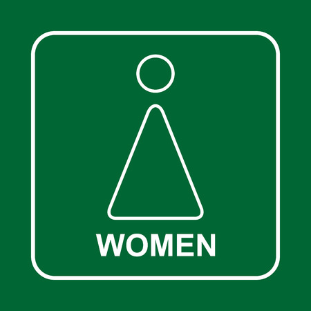 Toilet sign. WC  women