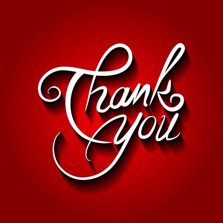 Thank you vector illustration.Thank You handwritten inscription. Illustration