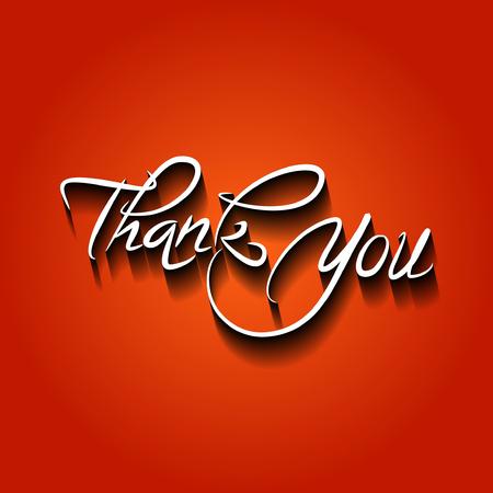 ベクトルイラストをありがとうございました。手書きの碑文をありがとう。
