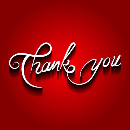 Thank you vector illustration.Thank You handwritten inscription. Stock Illustratie