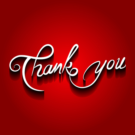 Thank you vector illustration.Thank You handwritten inscription. Иллюстрация