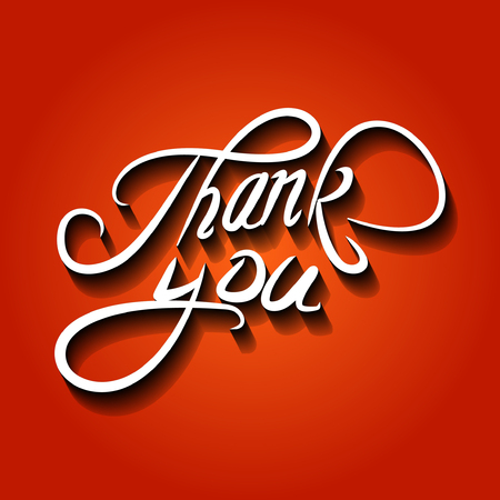 Thank you vector illustration.Thank You handwritten inscription. Ilustracja