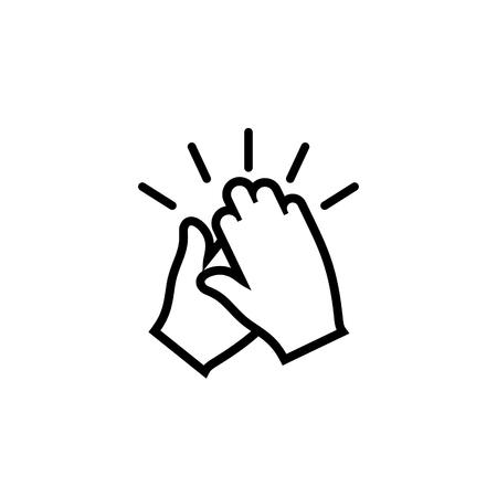 Icono de vector de manos aplaudiendo
