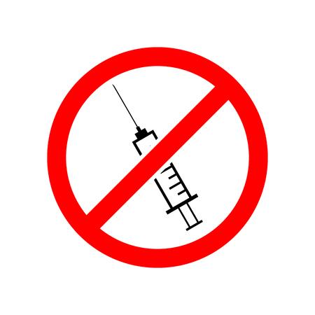 No injecting syringe vector icon