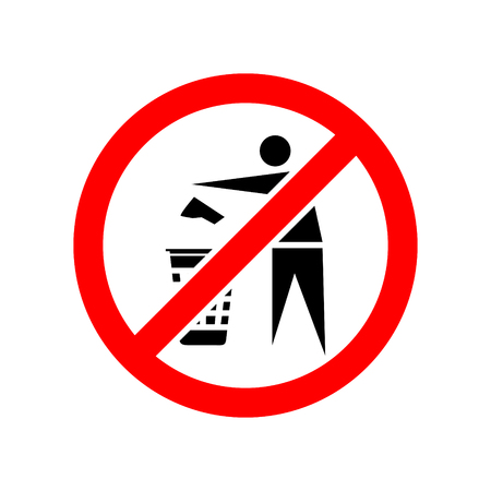 No recycle vector icon