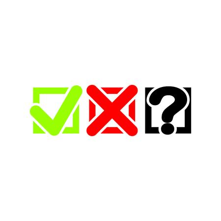Check marks vector icon