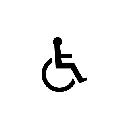 Handicapped sign vector icon  イラスト・ベクター素材