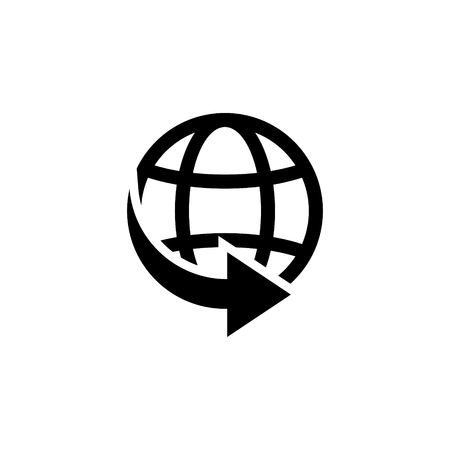 World delivery icon 向量圖像