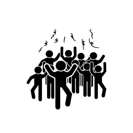 Party tanzen mit Menschen Vektor-Symbol Standard-Bild - 98115006