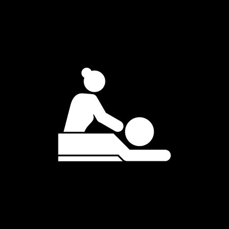 Massage spa body treatment vector icon Illustration