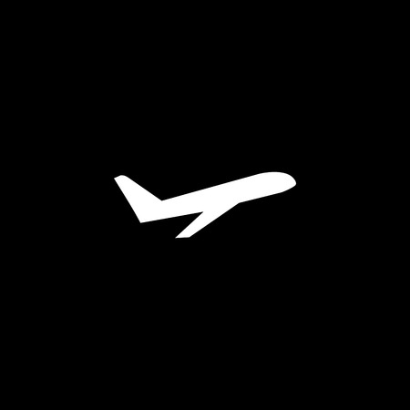Takeoff the plane vector icon