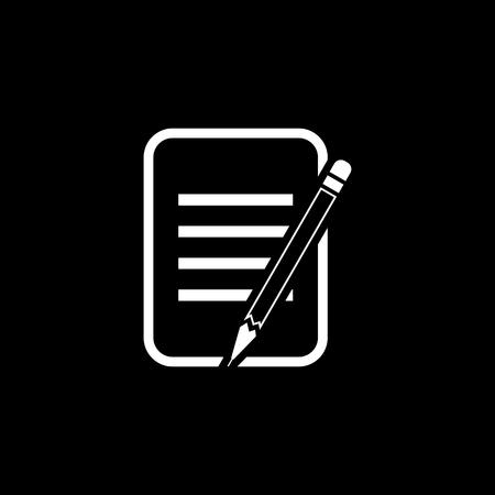 Edit document vector icon