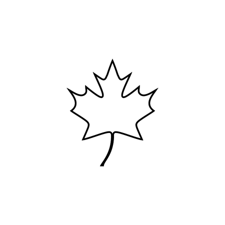 Maple leaf vector icon 矢量图像