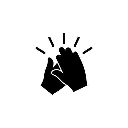 Clapping hands vector icon