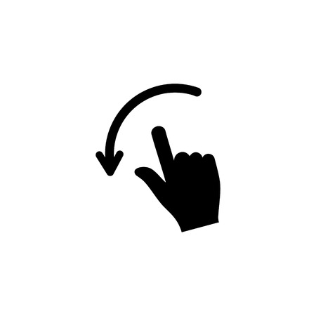 Movements with hands vector icon 일러스트