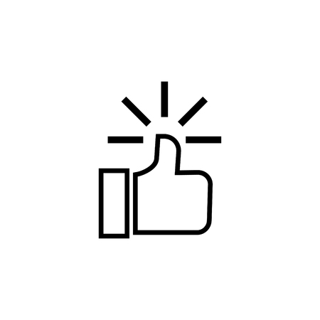 Thumbs up vector icon Illustration