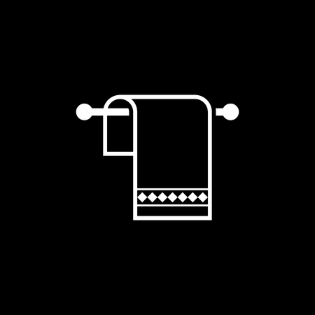 Towel vector icon Illustration
