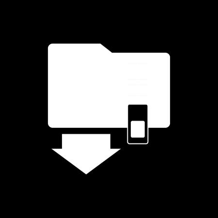 Zip folder vector icon