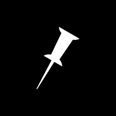 Pin silhouette vector icon