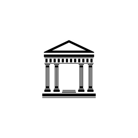 Elegant building with columns vector icon