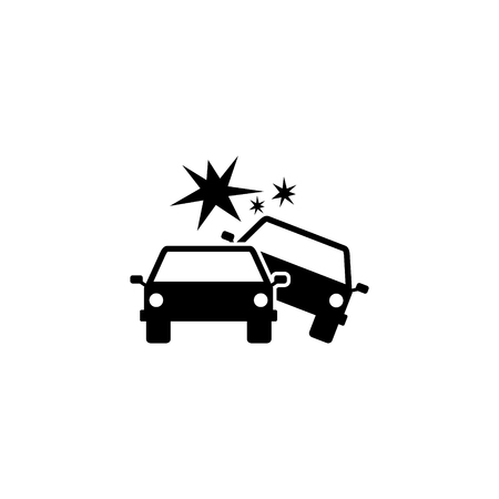 Car collision vector icon