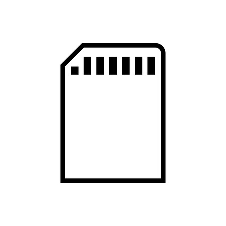 Sd card vector icon Çizim