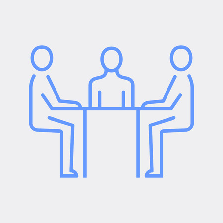 Human resources department. Business people icon simple line flat illustration.Vector icon Vector Illustratie