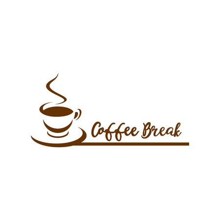 Coffee symbol vector icon. Coffee bread.Coffee design template. Retro coffee emblem.