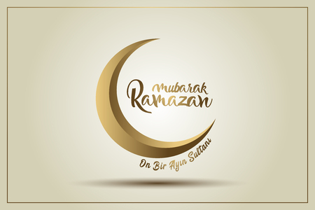 Mubarak ramazan. Translation: Happy ramadan.Ramadan Kareem poster. Holy month of muslim community.