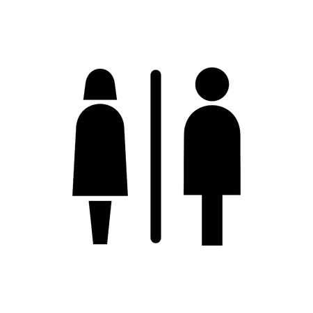 Restroom signs vector icon