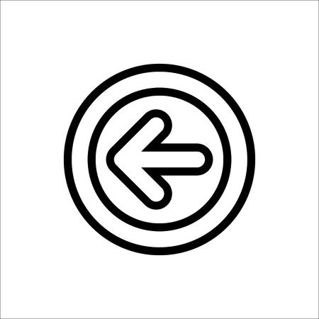 Left arrow button vector icon