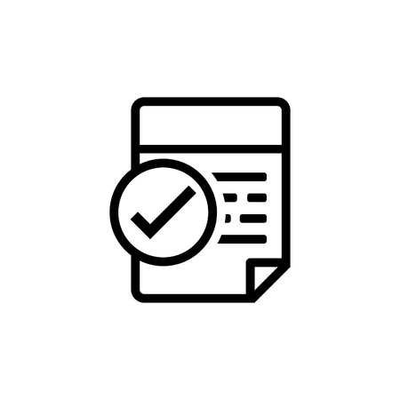 Approve invoice vector icon