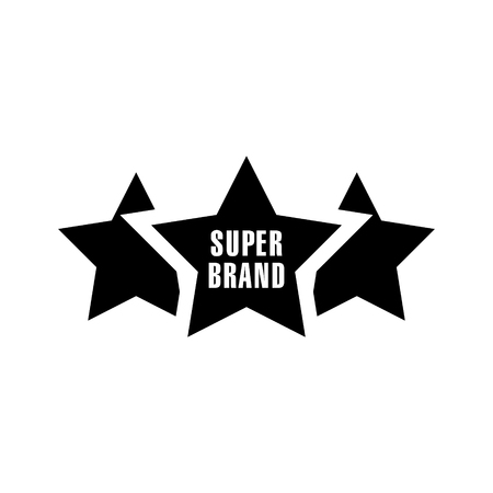Super brand stars vector icon