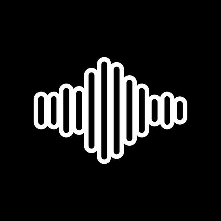Sound frequency vector icon Ilustração