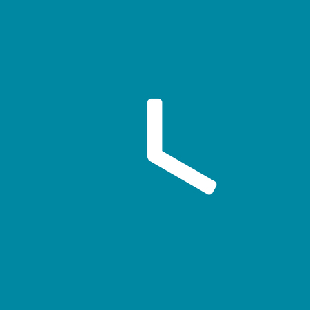 Clock time mobile vector icon 向量圖像