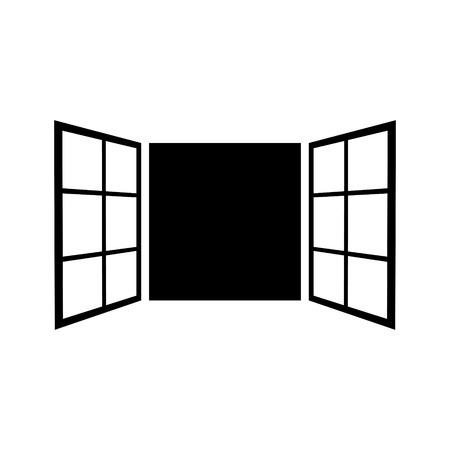 Vintage window vector icon Illustration