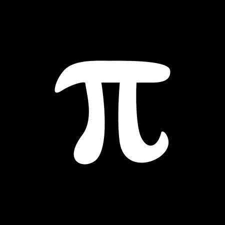 Pi mathematical constant vector icon