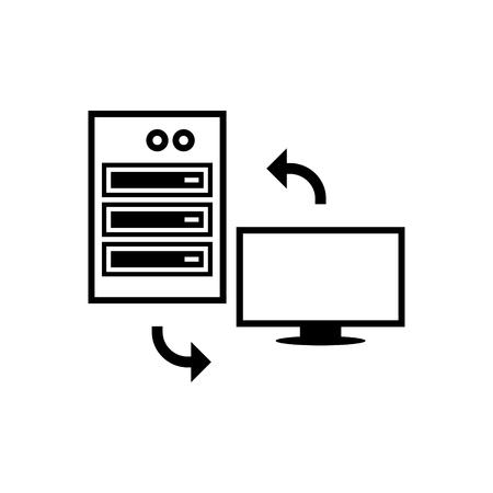 cliente icono de vector de cambio de clientes Ilustración de vector