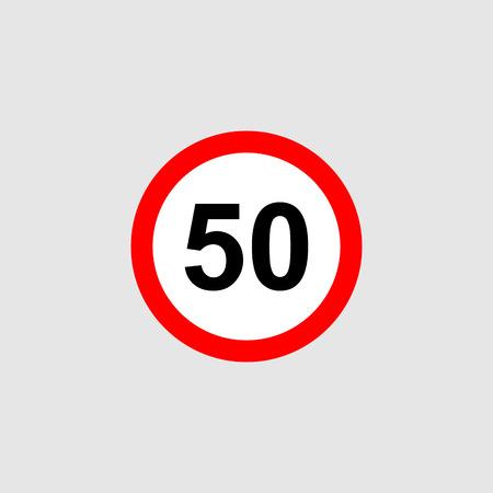 Maximum speed limit vector Banque d'images - 110137223