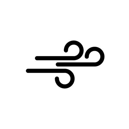 Icono de vector de símbolo de vientos Ilustración de vector