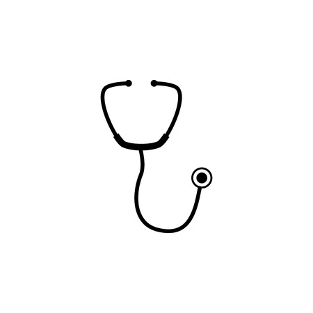 Stethoscope vector icon Illustration