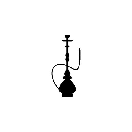 Hookah smoke vector icon Illustration