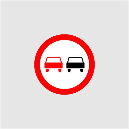 Sign overtaking prohibited vector Illustration