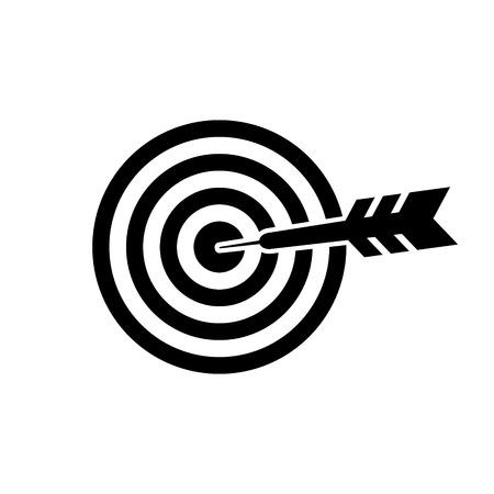 Dartboard vector icon