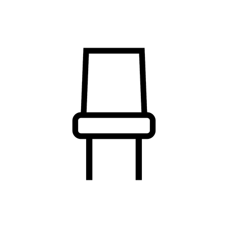 Chair vector icon Illustration