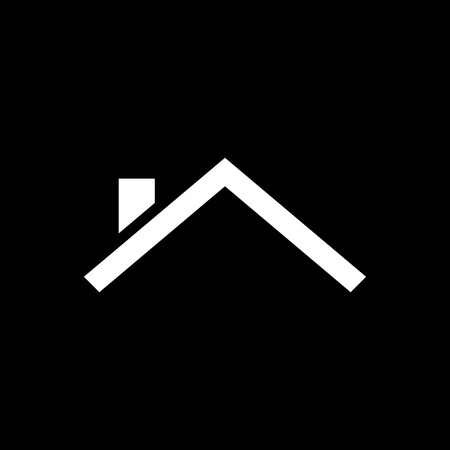 Roof house vector icon