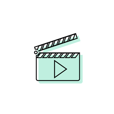 Movie open vector icon Vektorové ilustrace