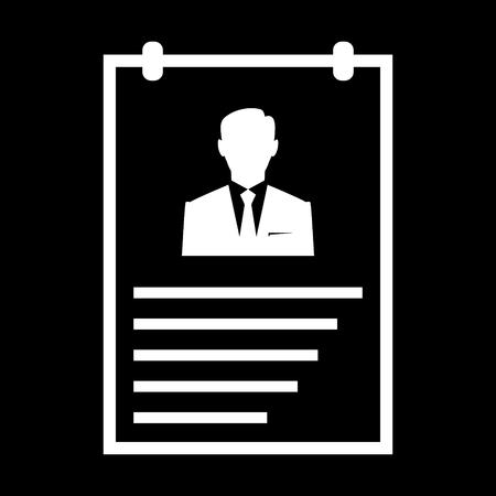 Curriculum vitae vector icon
