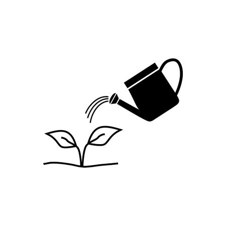 Regar un icono de vector de planta