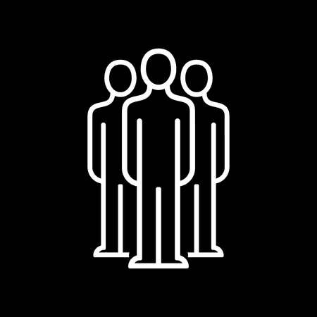 Human resources department. Business people icon simple line flat illustration.Vector icon